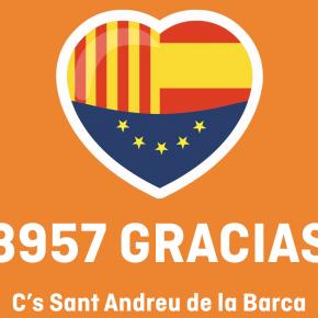 Ciudadanos (C's) consigue ser la primera fuerza en Sant Andreu de la Barca