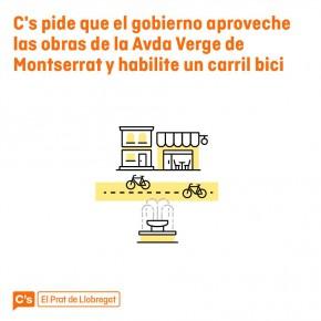 C's pide que el gobierno aproveche las obras de la Avda Montserrat y habilite un carril bici